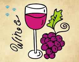 Desenho de Vinho tinto pintado e colorido por Analari o dia 10 de ...
