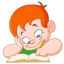 Biblioteca de vetores Criança escrevendo, ilustrações Criança ...
