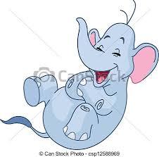 Rir, elefante. Rolando, elefante, rir, chão.