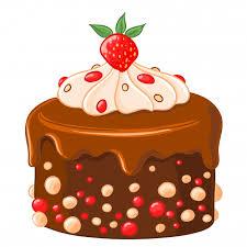Ícone de desenho animado bolo de chocolate com café com xarope de ...