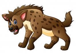 Desenhos animados engraçados da hiena | Vetor Premium