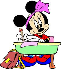 Minnie estudando